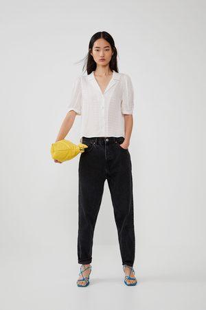Zara Mujer Camisas - Camisa fluida volumen