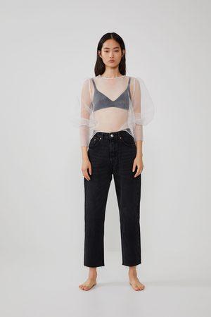 Zara Mujer Blusas - Blusa organza