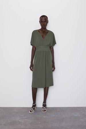 Zara Vestido elástico cintura