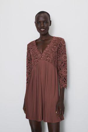 nuevas imágenes de vívido y de gran estilo calidad estable Vestido combinado encaje