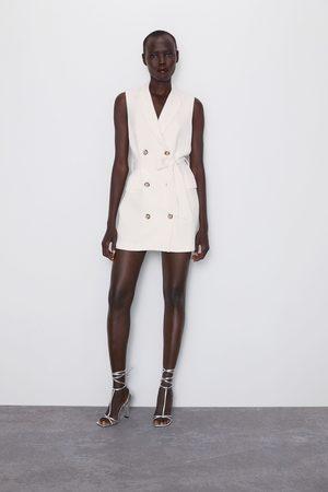 Zara Vestido chaleco botones