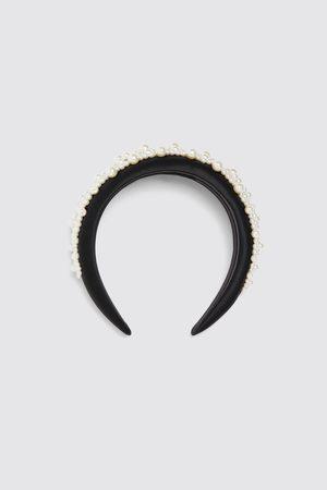 Zara Diadema satinada perlas