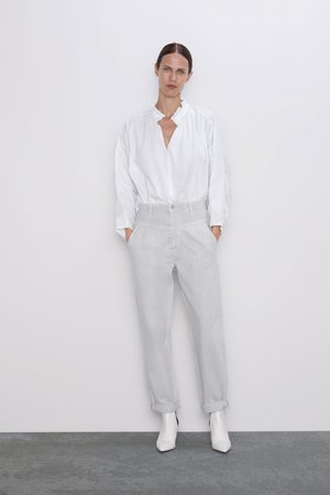 Zara Jeans zw premium 80's tapered ice stone
