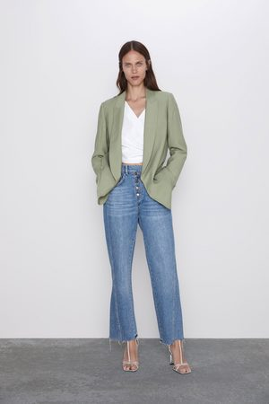 Zara Mujer Jeans - Jeans z1975 high rise botones