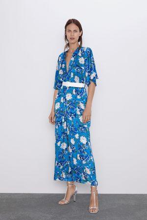 Zara Mono estampado floral cinturón