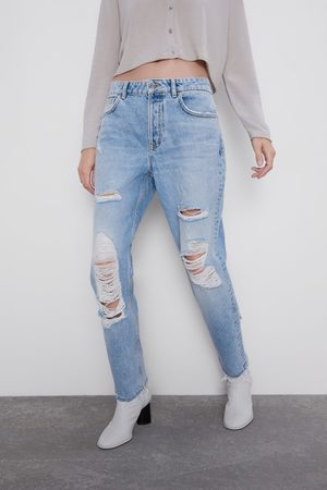 Zara Jeans z1975 mom fit rotos