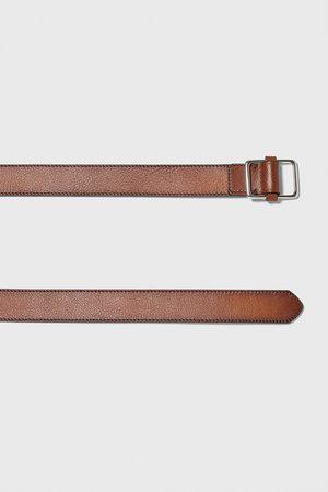 Zara Cinturón piel pespuntes