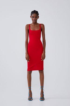 Zara Vestido tubo tirantes