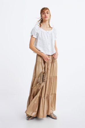 Zara Mujer Camisas - Cuerpo elásticos lino