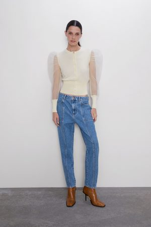 Zara Jeans z1975 mom fit bolsillos