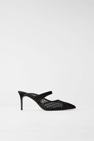 Zara Mujer Tacones - Mule tacón rejilla pulsera