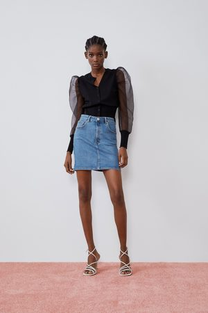 Zara Falda mini denim