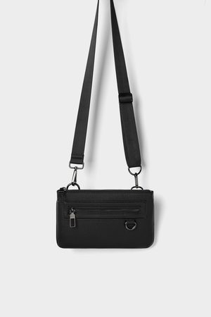 Zara Mini riñonera combinable negra