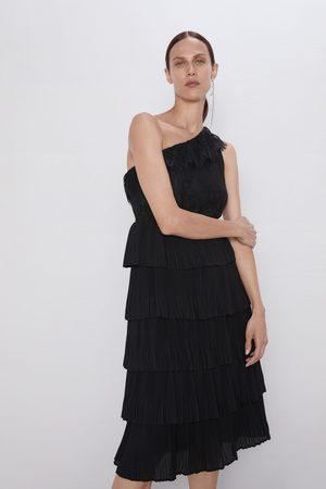 Zara Vestido asimétrico combinado