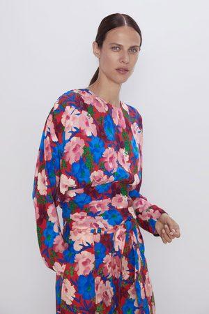 Zara Cuerpo drapeado estampado floral