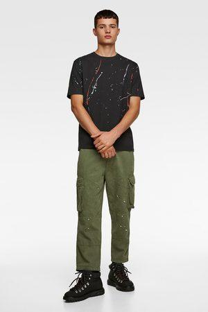 Zara Camiseta estampado pintura