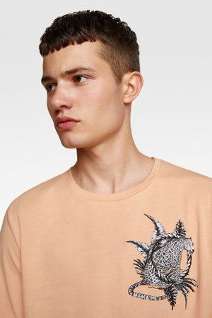 Zara Camiseta combinada bordados