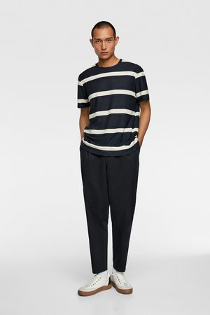 Zara Camiseta jacquard rayas