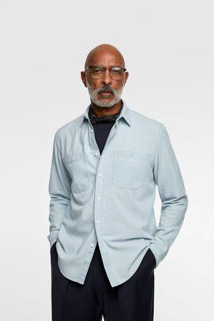Zara Camisa denim chambray