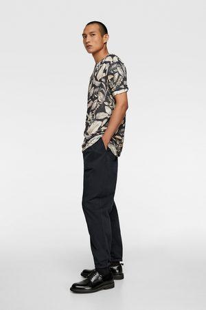 Zara Camiseta flores