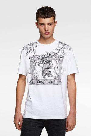 Zara Hombre Playeras - Camiseta combinada bordados