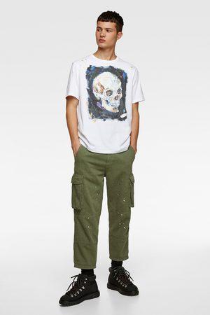 Zara Camiseta estampación calavera