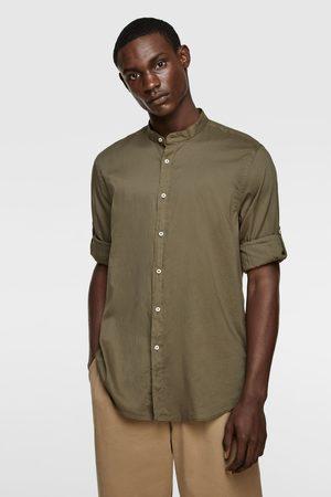 Zara Hombre Camisas - Camisa manga sardineta