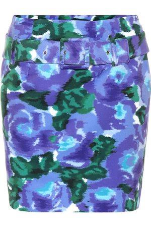 RICHARD QUINN Floral velvet miniskirt