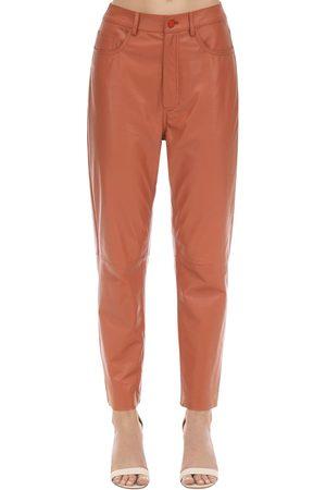 DROME Pantalones De Piel Con Cintura Alta