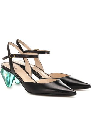 The Marc Jacobs The Slingback leather pumps