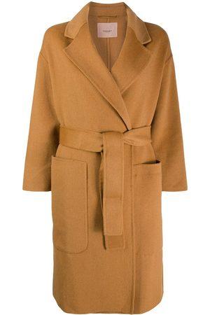 Twin-Set Abrigo con lazo en la cintura