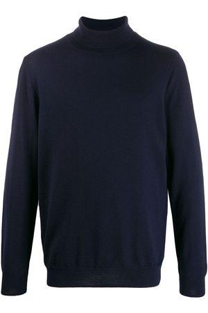 A.P.C Suéter de canalé con cuello vuelto