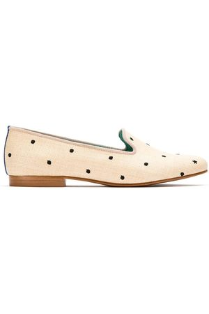 Blue Bird Shoes Slippers con diseño bordado