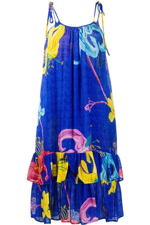 La DoubleJ Mujer Estampados - Vestido con tirantes finos y estampado floral