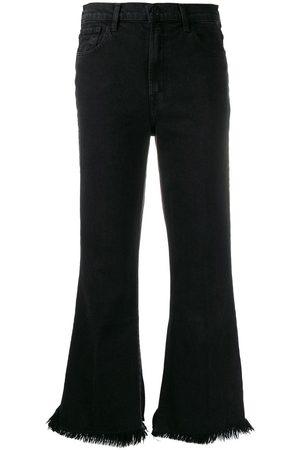 J Brand Jeans acampanados con efecto envejecido