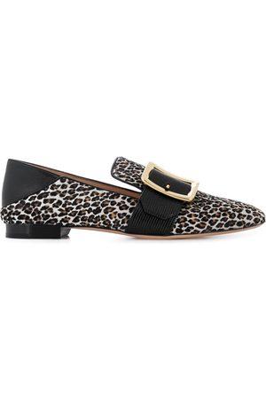 Bally Mocasines con estampado de leopardo