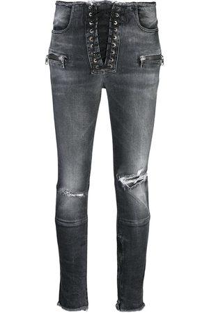 Unravel Project Skinny jeans con efecto envejecido