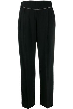 Msgm Pantalones con detalles de cristal