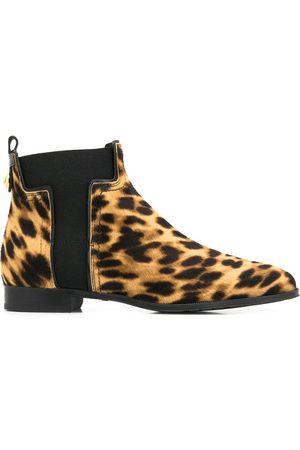 Tod's Mujer Botines - Botines con estampado de leopardo