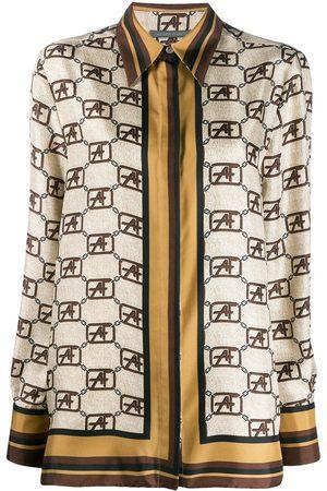 Alberta Ferretti Camisa con estampado de cadenas y logo