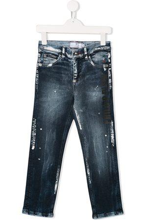 Philipp Plein Jeans con efecto de salpicadura de pintura