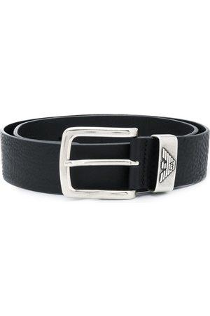 Emporio Armani Cinturón con placa del logo