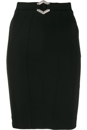 Philipp Plein Mujer Midi - Falda midi con cinturón