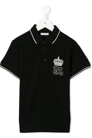 Dolce & Gabbana Polo King con diseño bordado