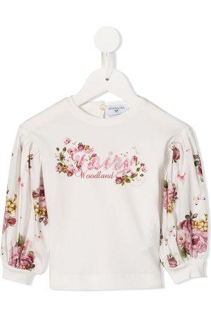 MONNALISA Top con estampado floral de manga larga