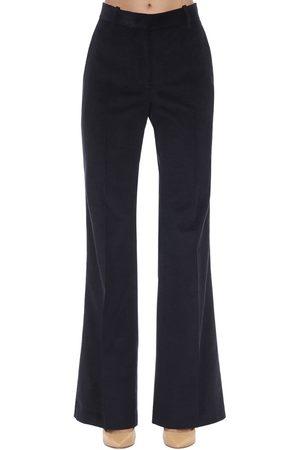 Victoria Beckham Pantalones Acampanados De Pana Con Cintura Alta