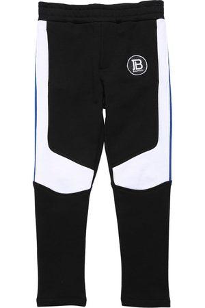 Balmain Pantalones Deportivos De Algodón Bicolor
