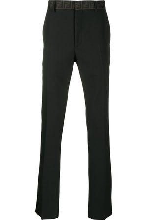 Fendi Pantalones de vestir con cintura con logo