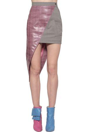 Natasha Zinko Mujer Minifaldas - Mini Falda Asimétrica De Lana Revestida