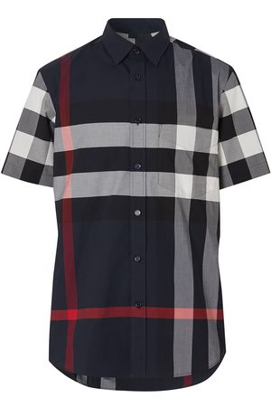 Burberry Hombre Camisas - Checked shortsleeved shirt